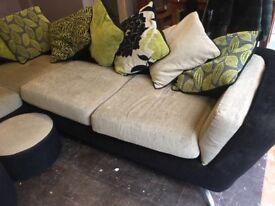 "Furniture village ""City"" Corner Sofa - Large"