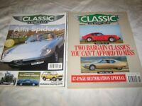 Classic car magazines (old editions)