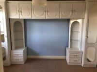 9 piece bedroom storage unit