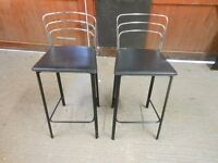 a pair of bar / kitchen stools in chrome and black. absolutely gorgeous. can deliver