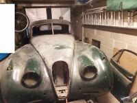 XK120 FHC Project. 1952 LHD. Complete but in bits