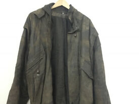 Vintage REAL LEATHER Mens Jacket (XL) excellent condition