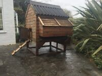 Large wooden chicken coop