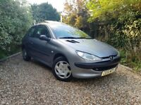 STUNNING EXAMPLE OF THE 2001 1.1 PETROL PEUGEOT 206, MOT TILL MARCH 19, 81648 MILES, 2 KEYS