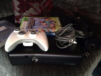 black slim xbox 360 with minecraft and terreria sell or swap ps4 games