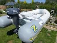 Zodiac air deck 310 boat with unused Yamaha outboard