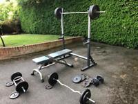 Squat rack/ Bench press convert.