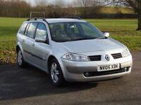 Renault megane ESTATE 2005 1.6 PETROL, AUTOMATIC, LOW MILEAGE, NEW MOT
