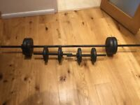 Opti 25 Kg Vinyl Barbell Dumbbell Set
