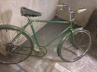 ORIGINAL MANS (L) Raleigh bicycle VINTAGE WORKS FINE UN TAMPERED DRY STORED £250