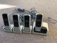 BT Quad Landline Phone Set with Answering Machine