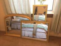 Assortment of Gold Mirrors