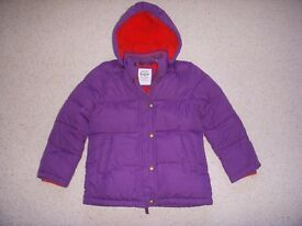 Boden girls hooded/padded coat. Age 7-8 years