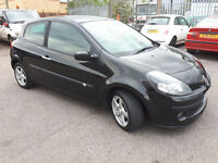 2007 57 REG RENAULT CLIO 1.4 DYNAMIQUE 3 DOOR BLACK FULL HISTORY