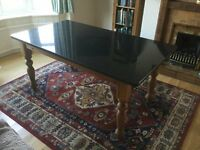 Dining Table with granite or wooden top