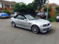 bmw m3 e46 convertable in titan silver with genuine hardtop
