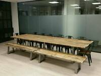Bespoke Industrial Style Dining Table from 5ft - 12ft