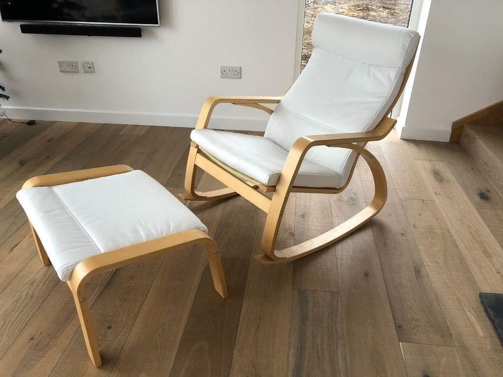 Excellent Ikea Poang Rocking Chair And Foot Stool In Ellon Aberdeenshire Gumtree Squirreltailoven Fun Painted Chair Ideas Images Squirreltailovenorg