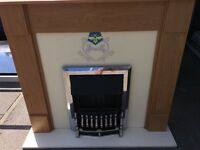 ELECTRIC FIRE WITH FULL SURROUND MINT CONDITION