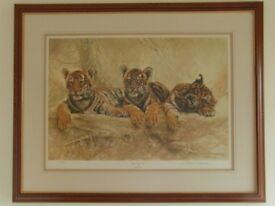 Original Signed Print - Limited Edition by Willem S De Beer in Brown & Gilt Frame - As New Condition