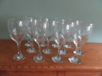 SUPER LARGE WINE GLASSES X12 USED ONCE FOR A PARTY HOLDS OVER 3/4 PINT SOLD AS SET