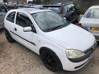 Vauxhall Corsa white 1.0cc new mot