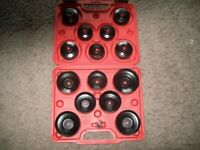 BRAND NEW 15 PCE OIL FILTER CUP SET