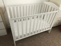 Cot with waterproof mattress free