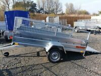 BRAND NEW MODEL TRAILER 7.7 x 4.2 MANUAL TIPPING SINGLE AXLE WITH 40CM AND A RAMP 750KG
