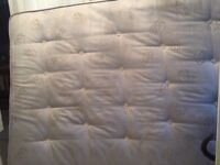 Orthopedic double mattress good condition, 9 inch thick, can deliver or collection