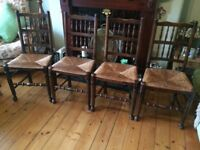 Dining Chairs (oak) x 4
