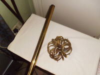 VINTAGE BRASS CURTAIN POLE.2.4 mtr's long