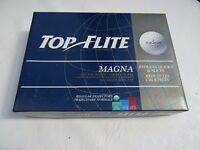 Box of 12 TOP FLIGHT MAGNA golf balls, Brand new. in 4 packs of 3 balls. FOR SALE, £12