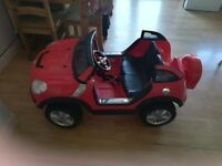 Red twin seat mini comber
