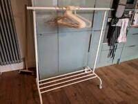 Clothes rail and hangers