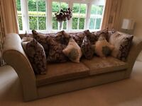 2x 3 seater sofas pristine condition. Including cushions