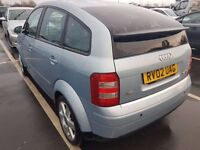 AUDI A2 1.4 TDI 13 STAMPS (ANY OLD CAR PX WELCOME) 1 OWNER,JUST BEEN SERVICED ON 23 JAN 2017 £30 tax