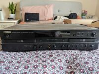 SPARES OR REPAIR - YAMAHA CDR-D651 TWIN DECK VINTAGE HI FI SEPARATES CD RECORDER & PLAYER