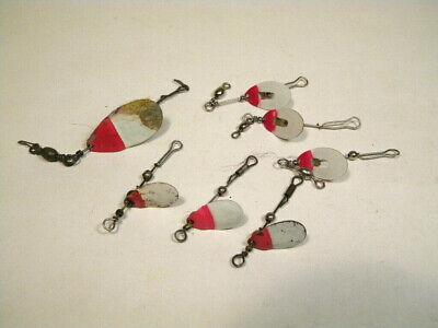 Pike//Bass /<Red-N-White/> **JUNE BUG **custom made inline spinners