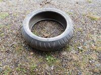 "4 x used 17"" motorbike tyres"