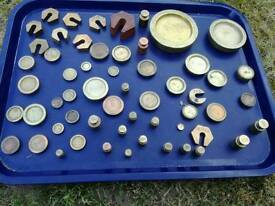 Brass weights and setters