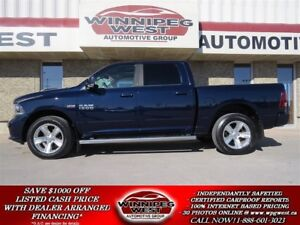2013 Dodge Ram 1500 SPORT CREW 4X4, LEATHER,ROOF,NAV, FLAWLESS!!