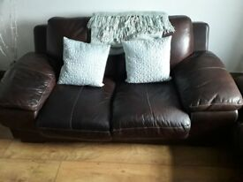 QUICK SALE! Brown settee and chair