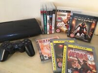 **GREAT BUNDLE** - Super Slim PS3 Console + Wireless Controller + 10 Playstation 3 Games
