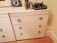White Bedroom chests of drawers