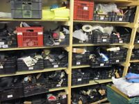 BASKETS OF NEW & USED VEHICLE PARTS FOR SCOOTERS, QUADS,SPYDERS, MOPTORBIKES, CARS