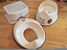 Baby Bjorn Toilet Training Seat Toddler & Adjustable smart Potty Removable Bowl splash-guard set 3