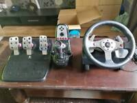 Logitech G25 gaming wheel, ps2,3 and pc