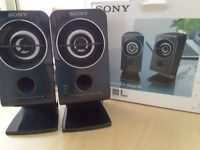 Sony Active SRS A212 Speakers (black)