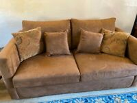 Sofa bed, suede-look, lightly used from non-smoking home